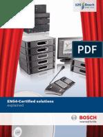 BOSCH EN54 Certification Booklet
