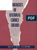 Donald Green, Ian Shapiro - Pathologies of Rational Choice Theory A Critique of Applications in Political Science 1996.pdf