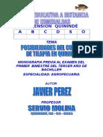 Acuacultura - Cultivo de Tilapia en Quininde