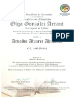 Diploma Olga Arraut - Arnoldo Alvarez 2