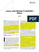 Theory and Akrasia in Aristotle's Ethics