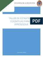 Taller de Estrategias Cognitivas Para El Aprendizaje