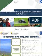 Estrategia Nacional de erradicación de al pobreza en Ecuador