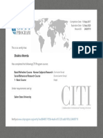 citi program certificate
