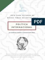 Novos Temas Política Internacional - Sapientia