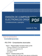 Emision de Comprobantes Electronicos Originales