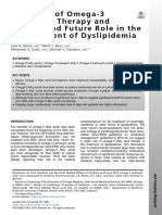Evolution of Omega-3 Fatty Acid Therapy and Current and Future Role in the Management of Dyslipidemia