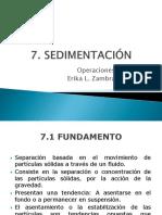 6. Sedimentación