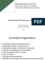 Adm Financeira I