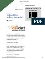 Instalación de Osticket en Español