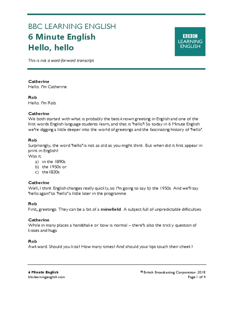180301 6min English Hello Linguistics Human Communication