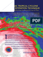 THE DVORAK TROPICAL CYCLONE INTENSITY ESTIMATION TECHNIQUE
