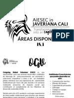 Áreas Disponible AIESEC en Javeriana Cali 18.1.