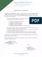 Certificate of Compliance Citizens Charter