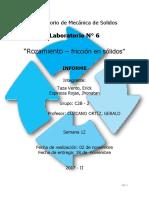 LABORATORIO N°6 - MECANICA DE SOLIDOS