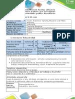 Guía de Actividades y Rúbrica de Evaluación - Paso 3 -Desarrollo de La Problemática