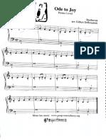 Himno a La Alegría-Partitura para principiantes