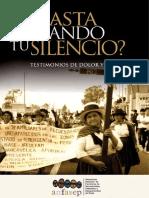 HASTA CUÁNDO TU SILENCIO, TESTIMONIOS DE DOLOR Y CORAJE - ANFASEP.pdf