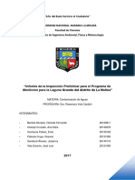 informe preliminar de La Laguna