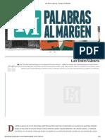 Luis Emiro Valencia – Palabras Al Margen