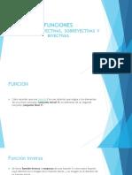 Exposicion de Funciones Inversa Inyectiva Sobreyectiva y Biyectiva