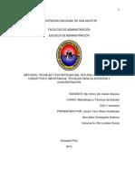 GRUPO 2 metodos, tecnicas y estrategias del estudio universitario. conceptos e importancia. tecnicas para la atencion y concentracion.docx