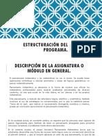 Estructuración Del Programa