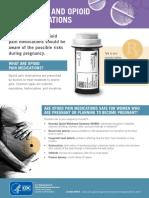cdc pregnancy opioid pain factsheet