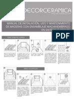 Manual Madera Machihembrado Flotante