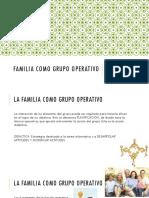 Familia Como Grupo Operativo