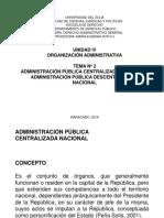 Administración Central y Descentralizada