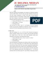 Metode Pengelolaan Limbah Cair RSU DELIMA Dapat Dilihat Sebagai Berikut
