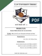 Basic Principle of Accounts Project Sem 1
