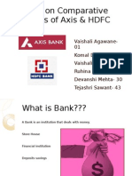 comparative analysis of Axis And HDFC bank