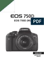 EOS 750D Instruction Manual En