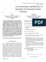 A Critical Analysis of Performance and Efficiency of Minimization Algorithms for Deterministic Finite Automata