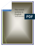 The Vowel System in English by Mustafa Abdulsahib