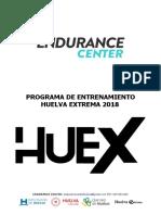 Plan Entrenamiento Huelva Extrema 2018