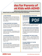 10 Rules for Parents of Defiant Kids With Adhd Secured