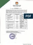 Pengumuman Lulus Tes Kesehatan & Tes Wawancara Calon Anggota KPU Prov Sulbar 2018-2023
