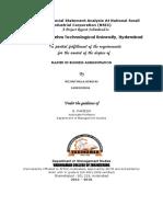 Sindhu Project on Financial Statement Analysis