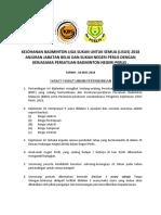 Kejohanan Badminton Liga Sukan Untuk Semua
