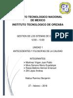Gestión de sistemas de calidad unidad 1