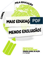 MAIS EDUCAÇÃO - MENOS EXCLUSÃO