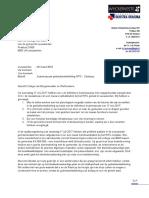 Brief Aan College B W Inzake Gebiedsontwikkeling Cambuur Dd 28 Mrt 2018