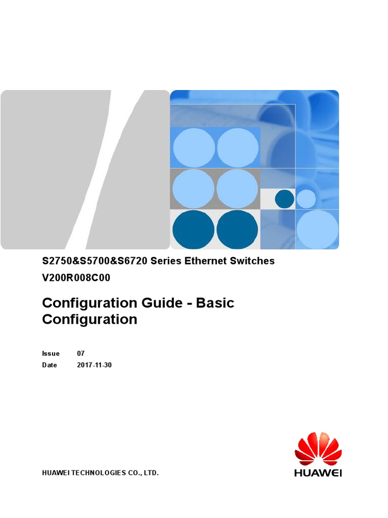 S2750&S5700&S6720 V200R008C00 Configuration Guide - Basic
