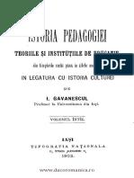 Gavanescu Istoria Pedagogiei I