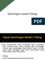 Kemiringan Model (Tilting) Ismi