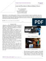 Technological Progression and Procedures in Microsoft Kinect Sensor