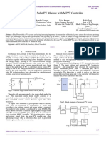 Designing of Solar PV Module with MPPT Controller